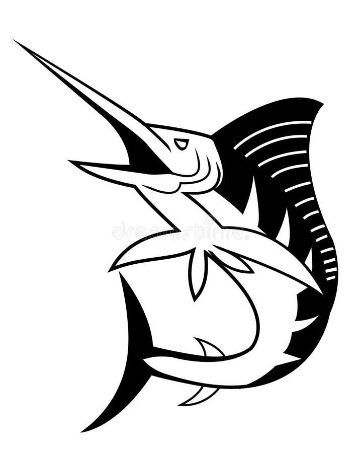 Marlin vektor illustrationer