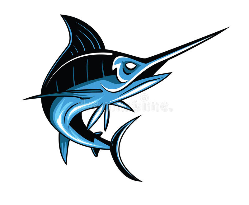 Marlin Fish stock illustration