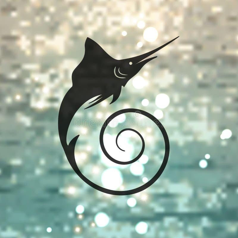 Free Marlin Fish Logo Royalty Free Stock Image - 49732306