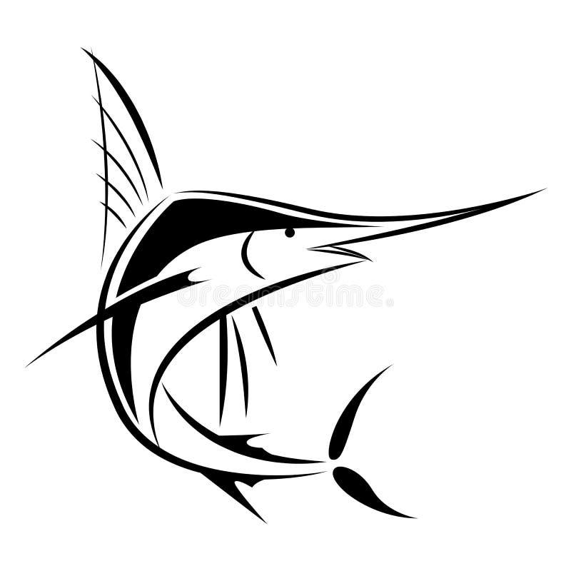 Marlin graphique, vecteur illustration stock