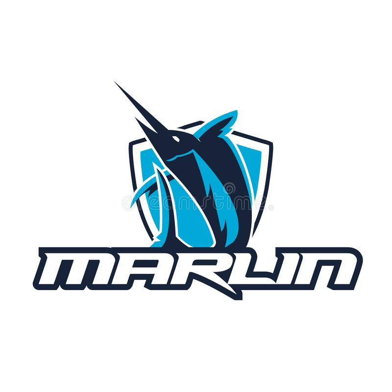 Marlin loga wektoru ilustracje Marlin Esport logo royalty ilustracja