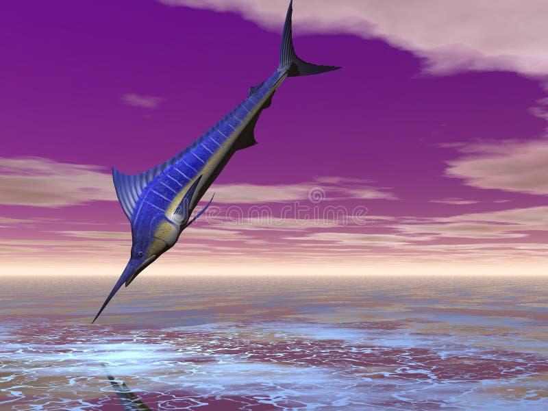 marlin niebieski ilustracja wektor