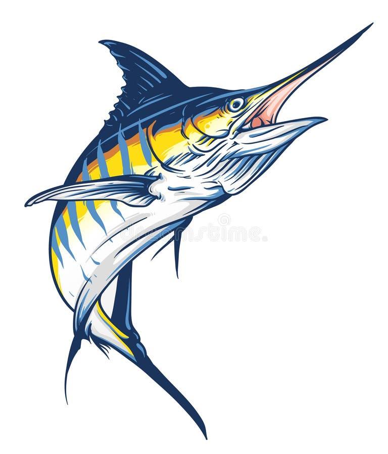 Marlin sautant illustration de vecteur