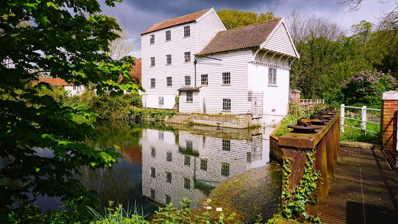 Marlingford watermill. Marlingford watermill is a historical mill dating as far back as the 1700`s. It was refurbished in the 1800`s and sits on the river Yare stock photography