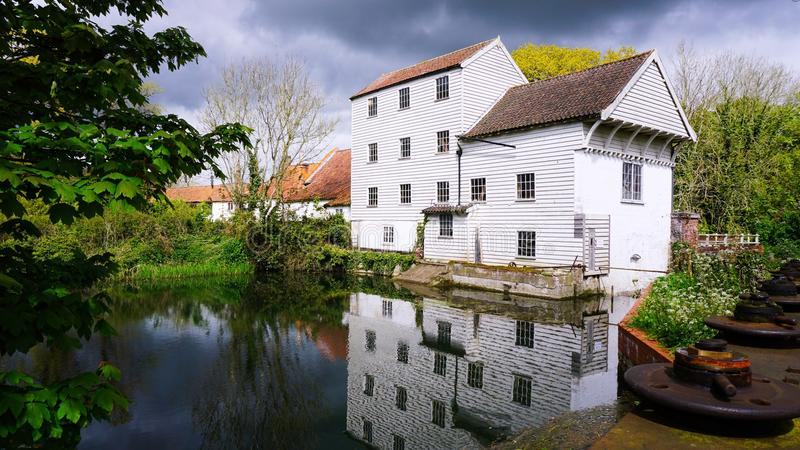Marlingford watermill. Marlingford watermill is a historical mill dating as far back as the 1700`s. It was refurbished in the 1800`s and sits on the river Yare stock photos