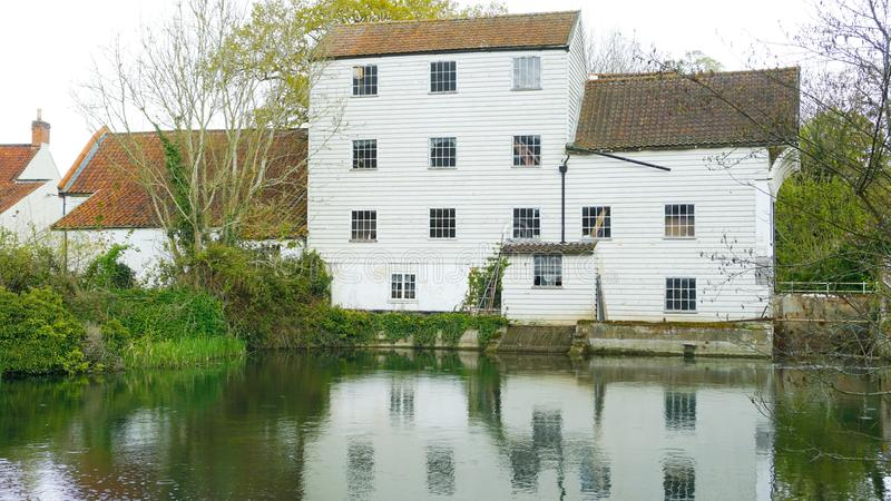 Marlingford watermill. Marlingford watermill is a historical mill dating as far back as the 1700`s. It was refurbished in the 1800`s and sits on the river Yare royalty free stock photos