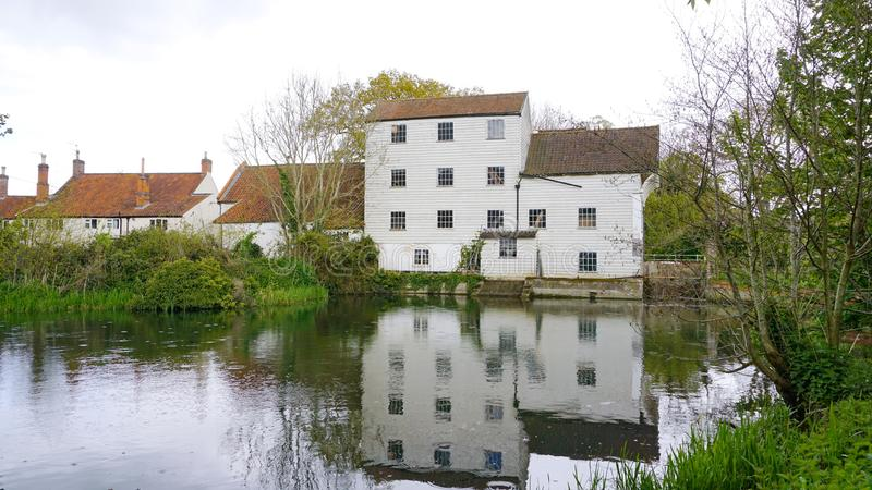 Marlingford watermill. Marlingford watermill is a historical mill dating as far back as the 1700`s. It was refurbished in the 1800`s and sits on the river Yare royalty free stock images