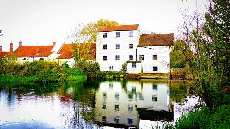 Marlingford watermill Norfolk. Marlingford watermill is a historical mill dating as far back as the 1700`s. It was refurbished in the 1800`s and sits on the royalty free stock images