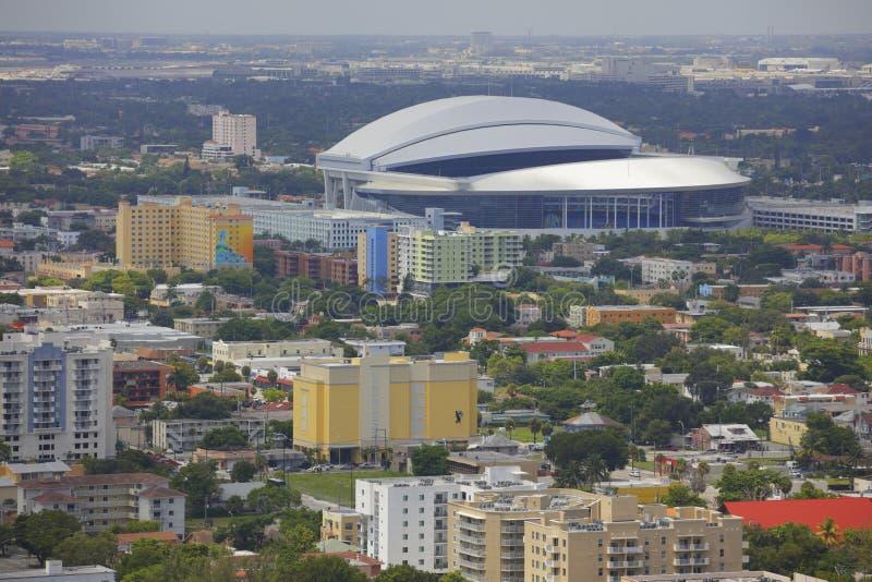 Marlins Stadium Miami royalty free stock image