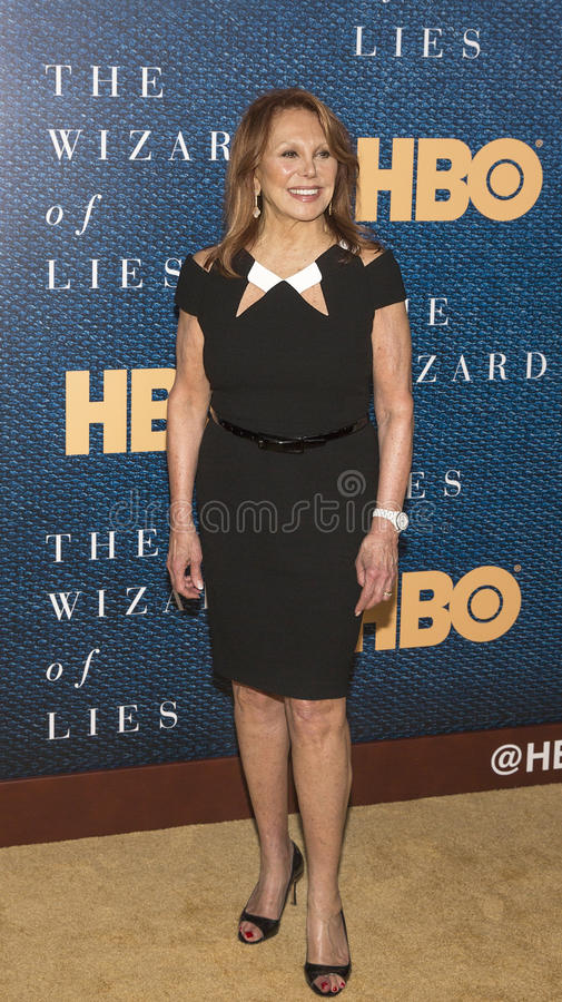 Marlo Thomas. Actor and activist Marlo Thomas arrives for the New York City premiere of `The Wizard of Lies,` at the Museum of Modern Art MOMA on May 11 royalty free stock images