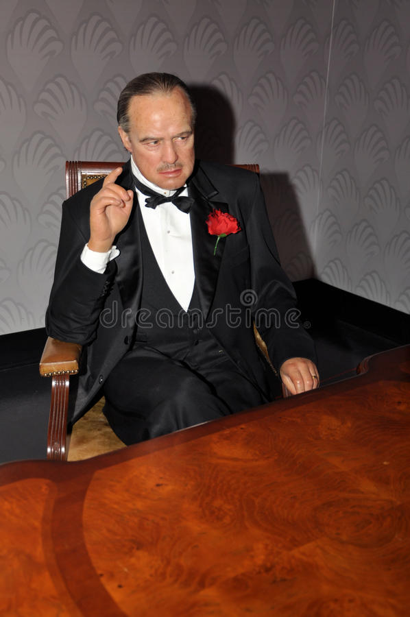 Marlon Brando. Wax statue of Marlon Brando, Hollywood celebrity and actor, image taken at the Madame Tussauds museum at Hollywood, Los Angeles, California