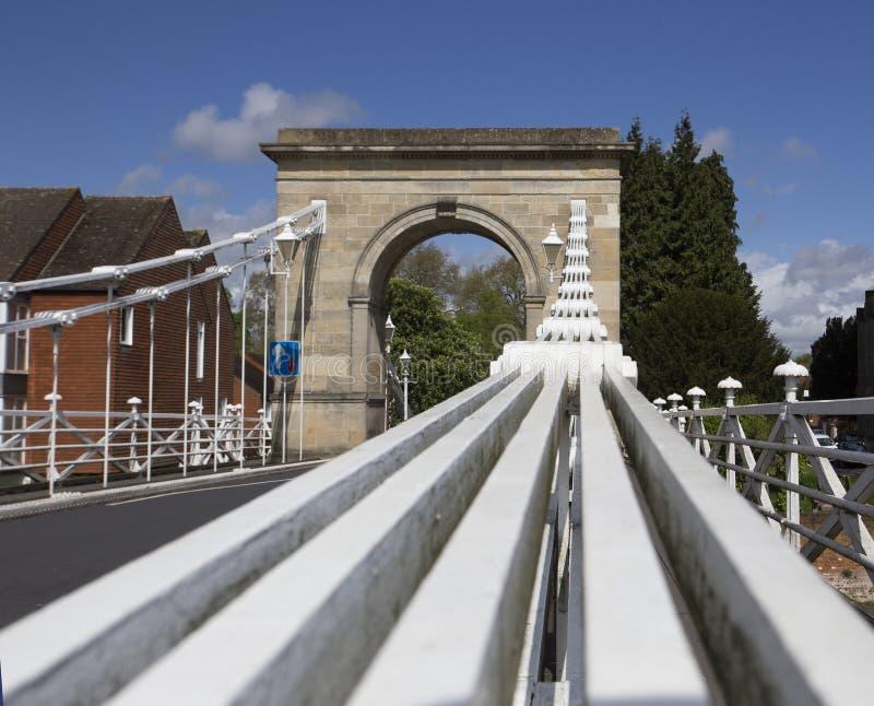 Marlow桥梁 库存照片