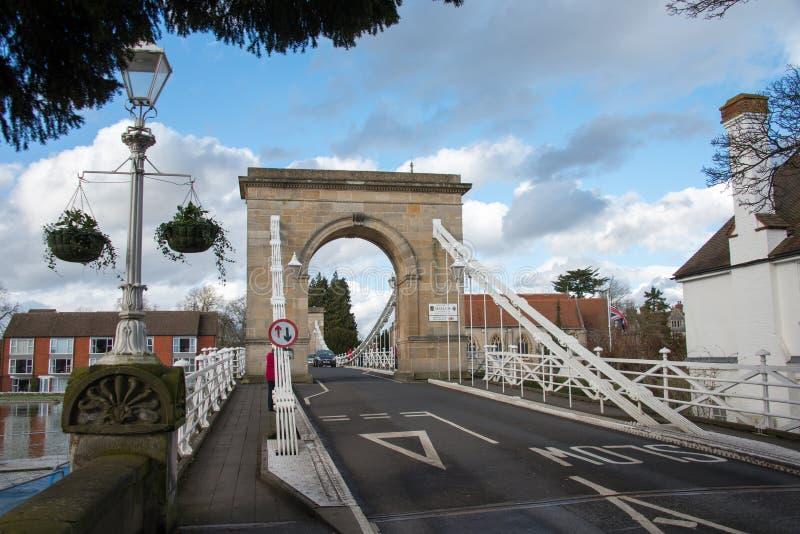 Marlow-Brücke Großbritannien lizenzfreies stockbild