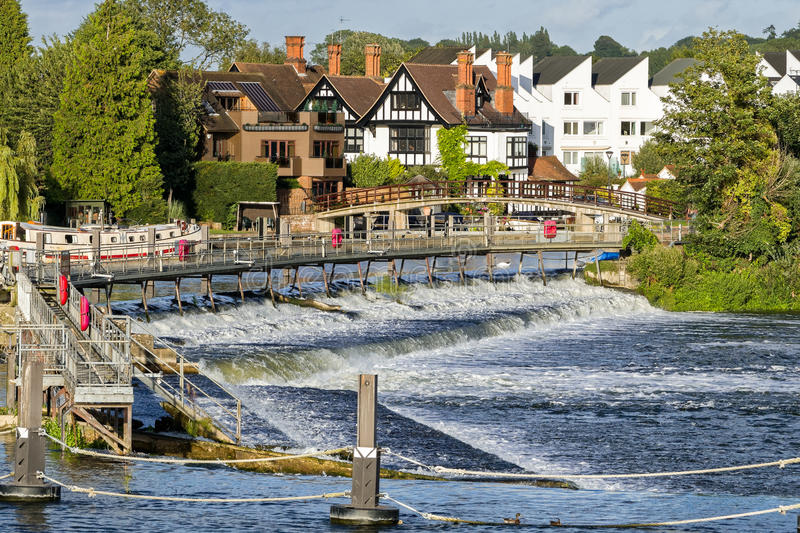 Marlow on the River Thames, England royalty free stock image