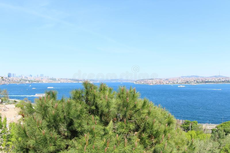 Marmara θάλασσα και το ασιατικό μέρος της Τουρκίας στοκ φωτογραφία