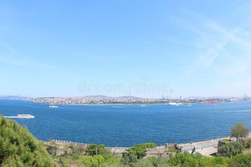 Marmara θάλασσα και το ασιατικό μέρος της Τουρκίας στοκ φωτογραφίες