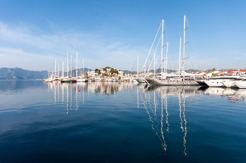 Marmaris hamn, Turkiet arkivfoton