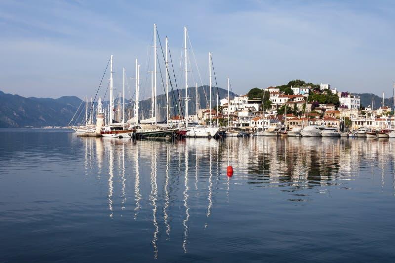 Marmaris hamn, Turkiet royaltyfri bild