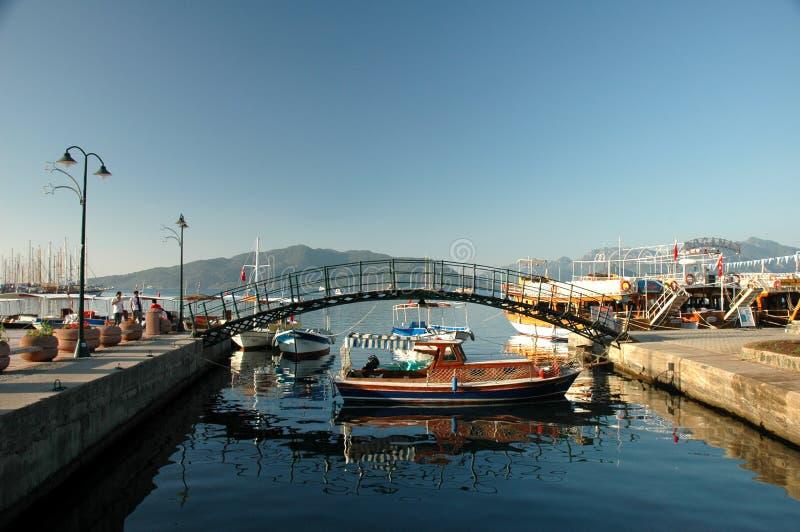 Marmaris Harbour royalty free stock photos
