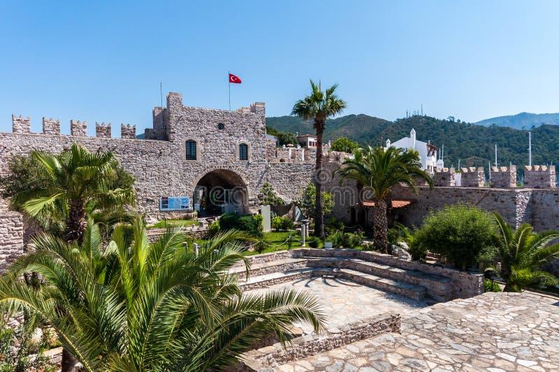 Marmaris slott, Turkiet arkivfoton