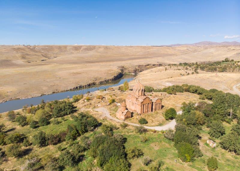 Marmashen修道院复合体在亚美尼亚 顶视图 图库摄影