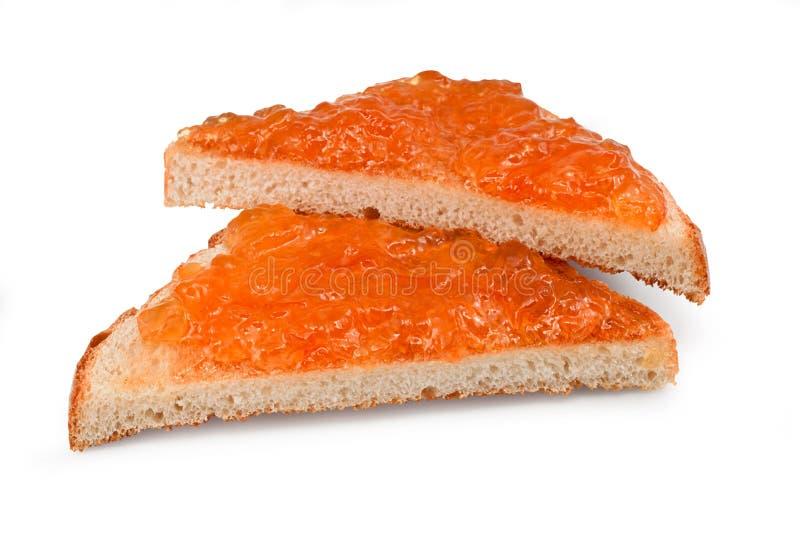 Marmelade auf Toast stockbilder