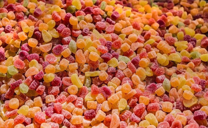 Marmelade coloré doux de gelée sur un marché image libre de droits