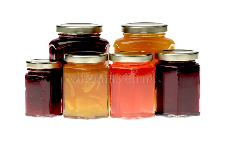 Marmeladentöpfe stockfotos
