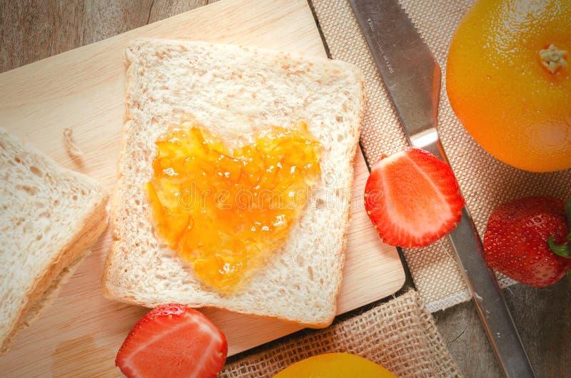 Marmellata d'arance dolce immagini stock