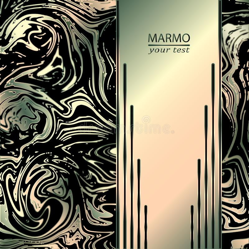 Marmeren abstracte achtergrond In kleurenmengsel Mooie marmeren abstracte achtergrond stock illustratie