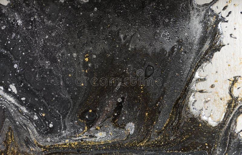 Marmeren abstracte acrylachtergrond Het kunstwerktextuur van de aardmarmering royalty-vrije stock afbeeldingen