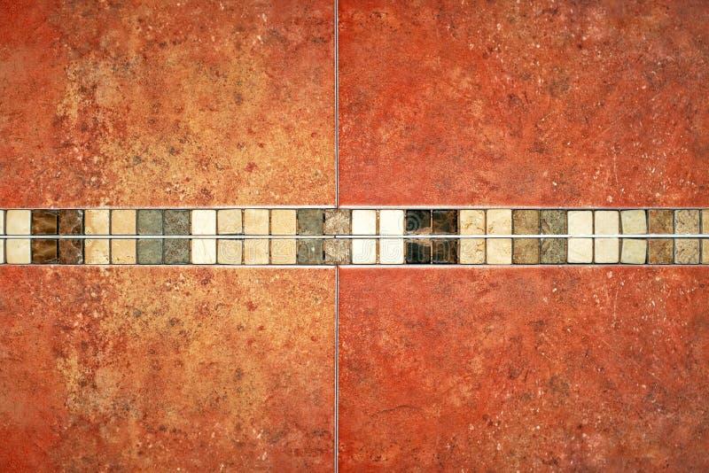 Marmeren bruine tegels stock foto's
