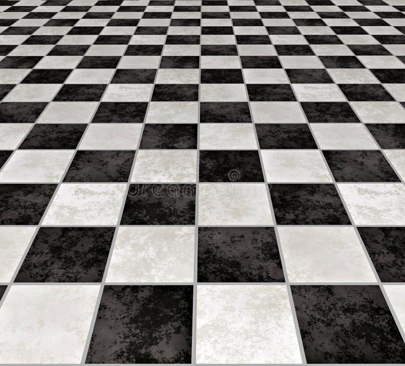 Marmeren geruite tegels   vector illustratie