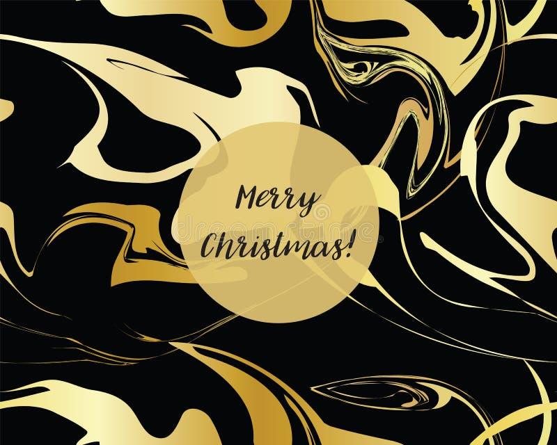 Marmeren Gouden textuur naadloos patroon royalty-vrije illustratie