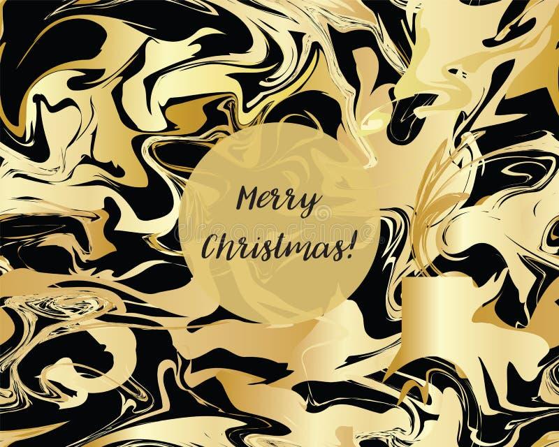 Marmeren Gouden textuur naadloos patroon vector illustratie