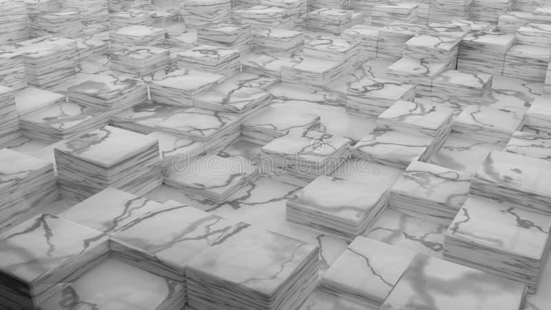 Marmeren kubussen stock illustratie