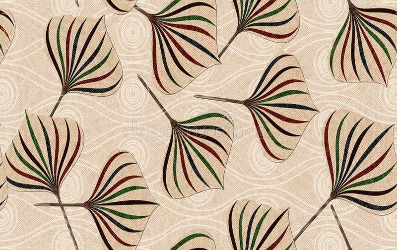 Marmeren muur en vloer voor keuken en badtegel voor druk, achtergrond van de bloem de abstracte textuur, stoffen textielpatroon v stock illustratie