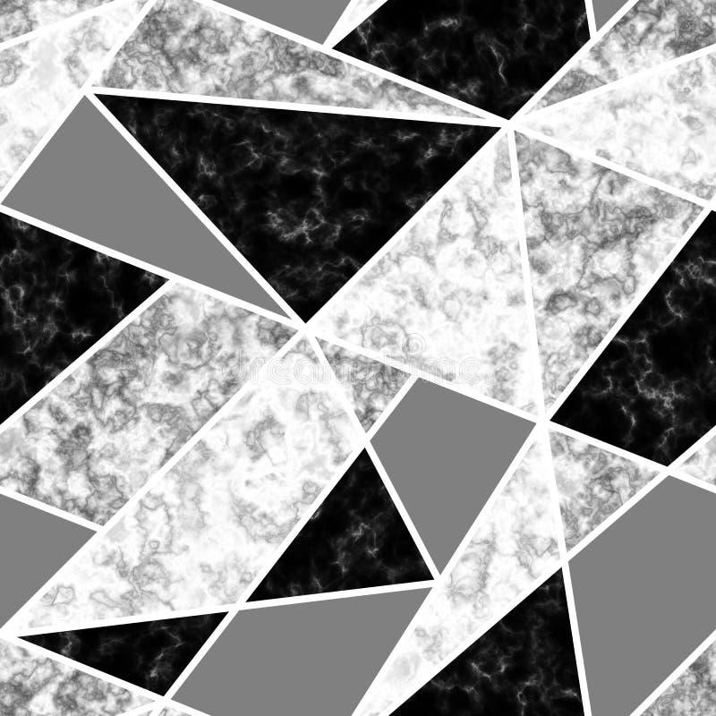Marmeren Naadloos Patroon vector illustratie