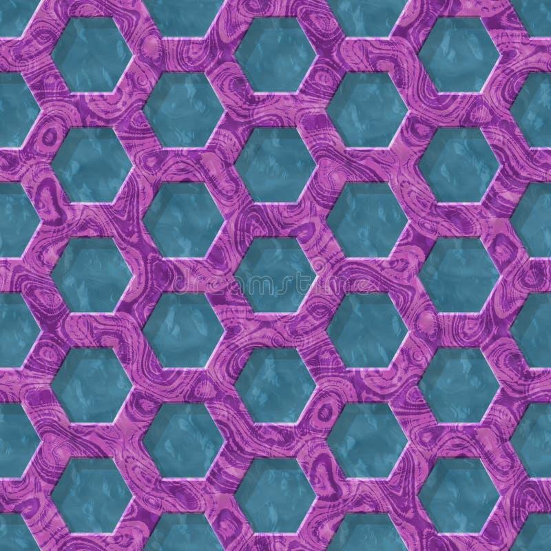 Marmeren naadloze geproduceerde de hurentextuur van het draadnetwerk vector illustratie