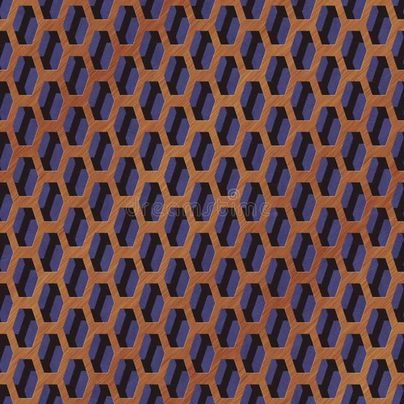 Marmeren naadloze geproduceerde de hurentextuur van het draadnetwerk stock illustratie