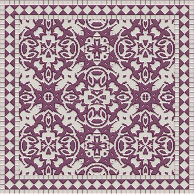 Marmeren polijst abstracte muurtegel vector illustratie