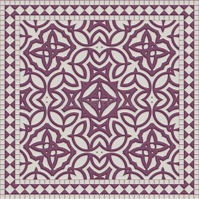 Marmeren polijst 3d tegel van de illustratie abstracte muur stock illustratie