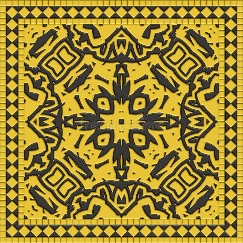 Marmeren polijst 3d tegel van de illustratie abstracte muur vector illustratie