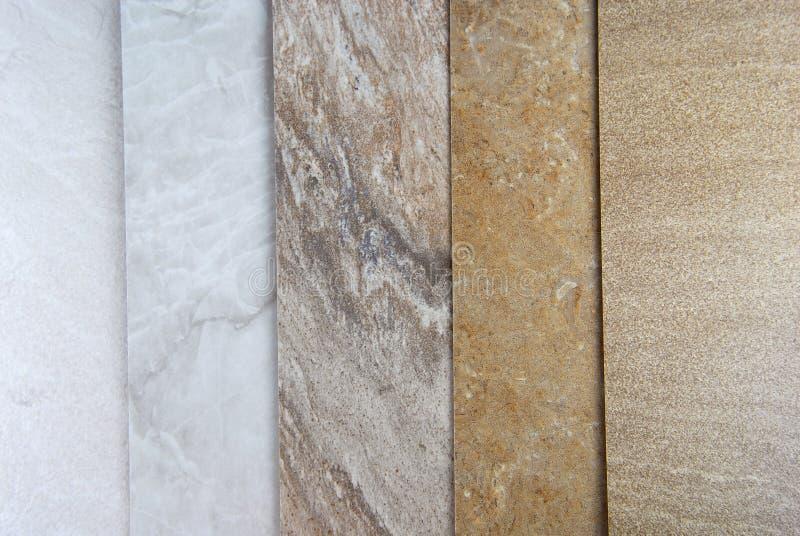 Marmeren steekproeven stock afbeelding