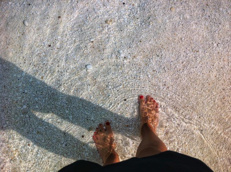 Marmeren strand stock foto