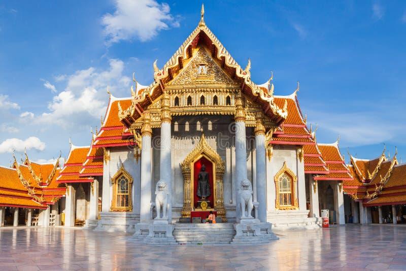 Marmeren Tempel, Bangkok, Thailand stock foto's