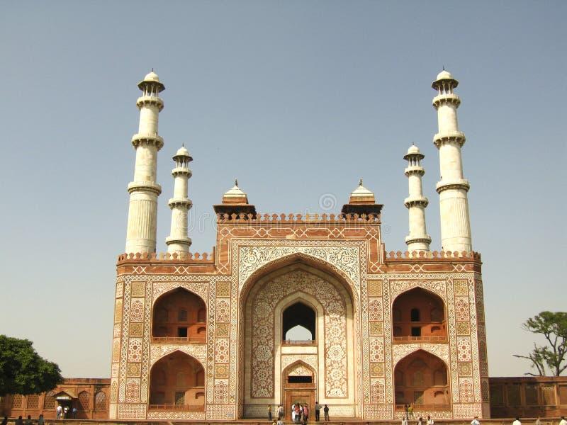 Marmeren Tempel in India royalty-vrije stock afbeelding
