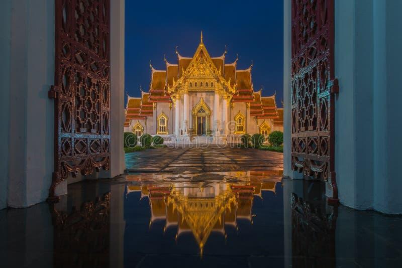 Marmeren Tempel, Wat Benjamaborphit stock foto's