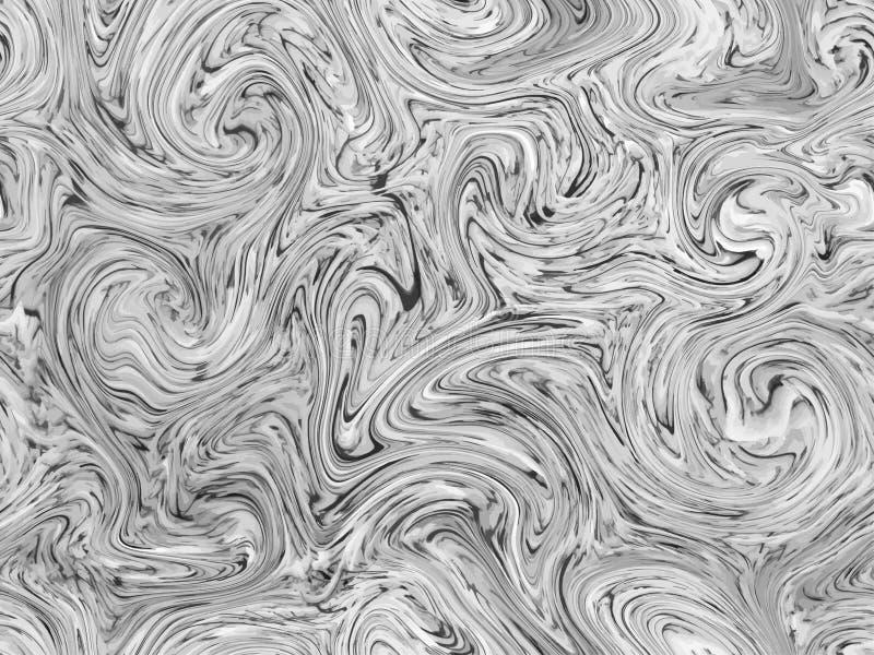 Marmeren textuur naadloze achtergrond Abstract Naadloos Patroon Het vloeibare vloeibare effect van de marmeringsstroom Vectordruk stock illustratie