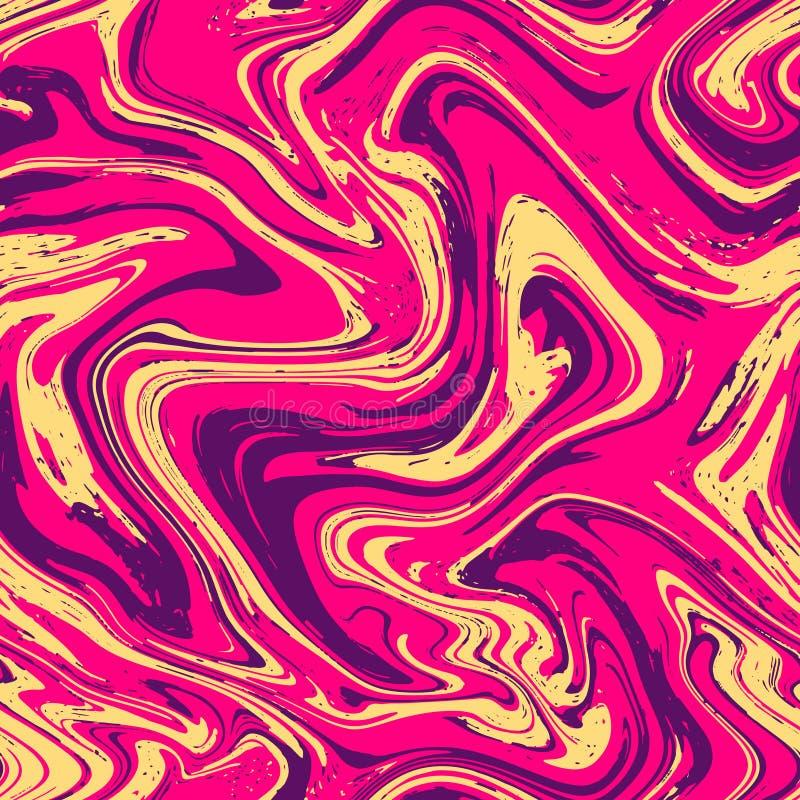 Marmeren textuur naadloze achtergrond Roze, violet, purper abstract patroon Het naadloze vloeibare vloeibare effect van de marmer royalty-vrije illustratie